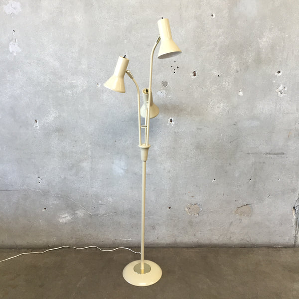 Vintage Beige Three Light Floor Lamp