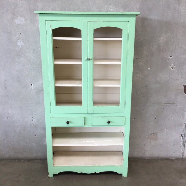 Antique Green Pantry Cabinet