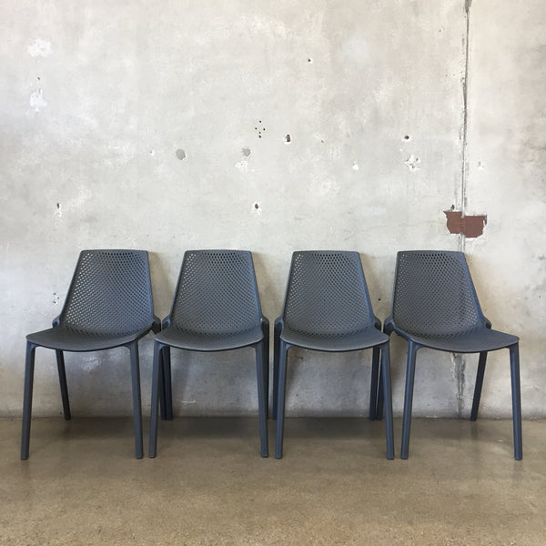 Set of Four Stacking Modern Patio Chairs