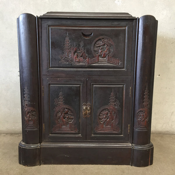 Asian Inspired Bar Cabinet