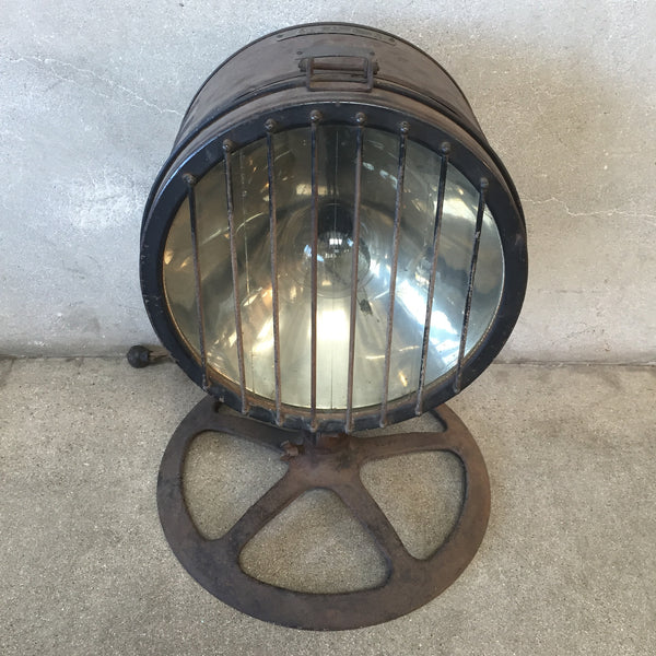 Vintage Spot Lamp with Cast Iron Base