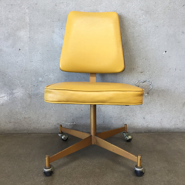 Yellow Mid Century Task Chair