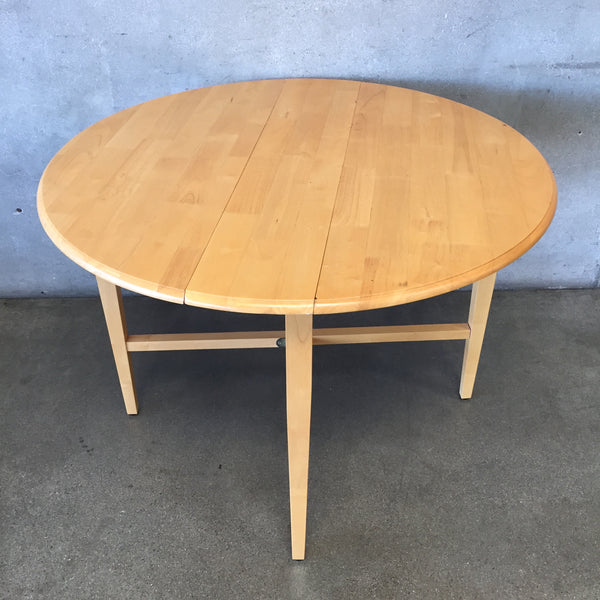 Round Birch Wood Dining Table