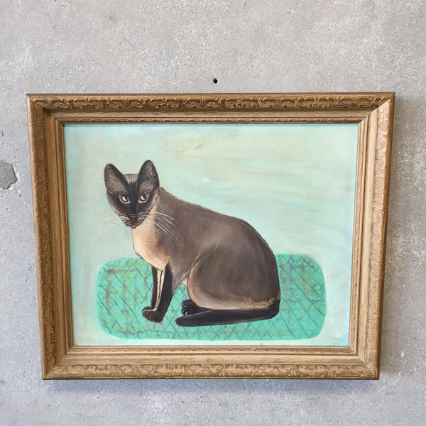 1930's Folk Art Cat Painting