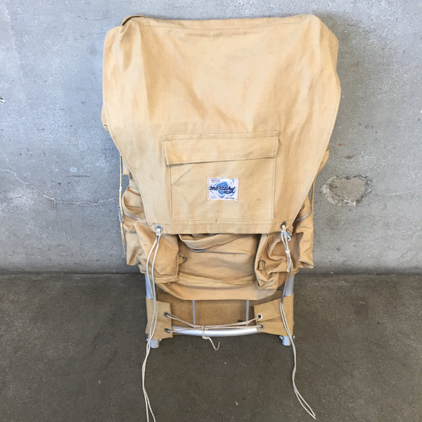 Vintage 1960's Canvas Backpack with External Aluminum Frame