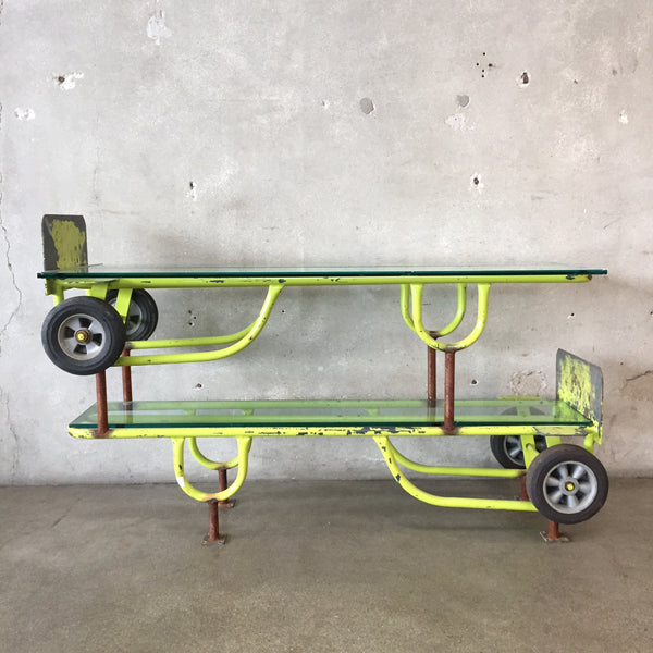 Industrial Repurposed Hand Truck Console Table