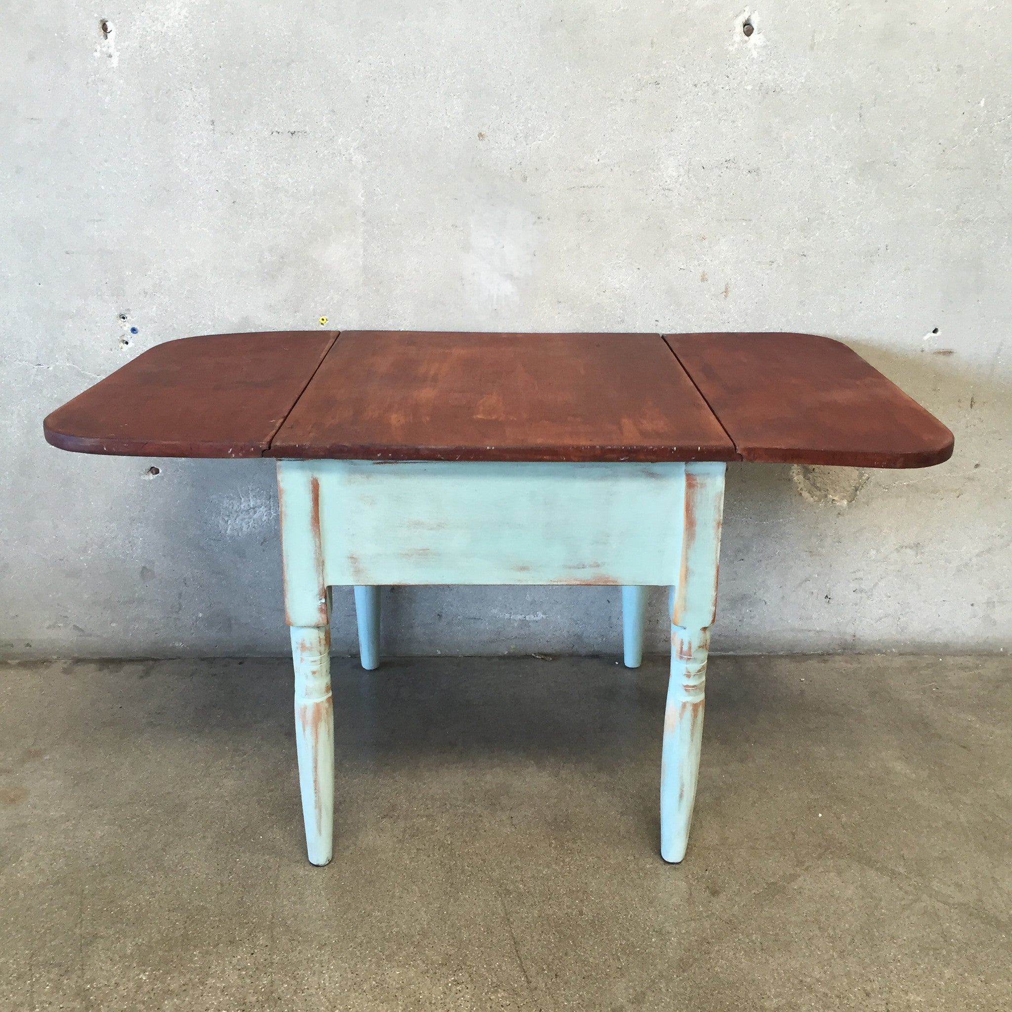 ... Hand Painted Distressed Drop Leaf End Table