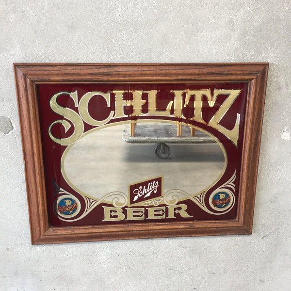 1970's Schlitz Groovy Beer Bar Mirror / Sign