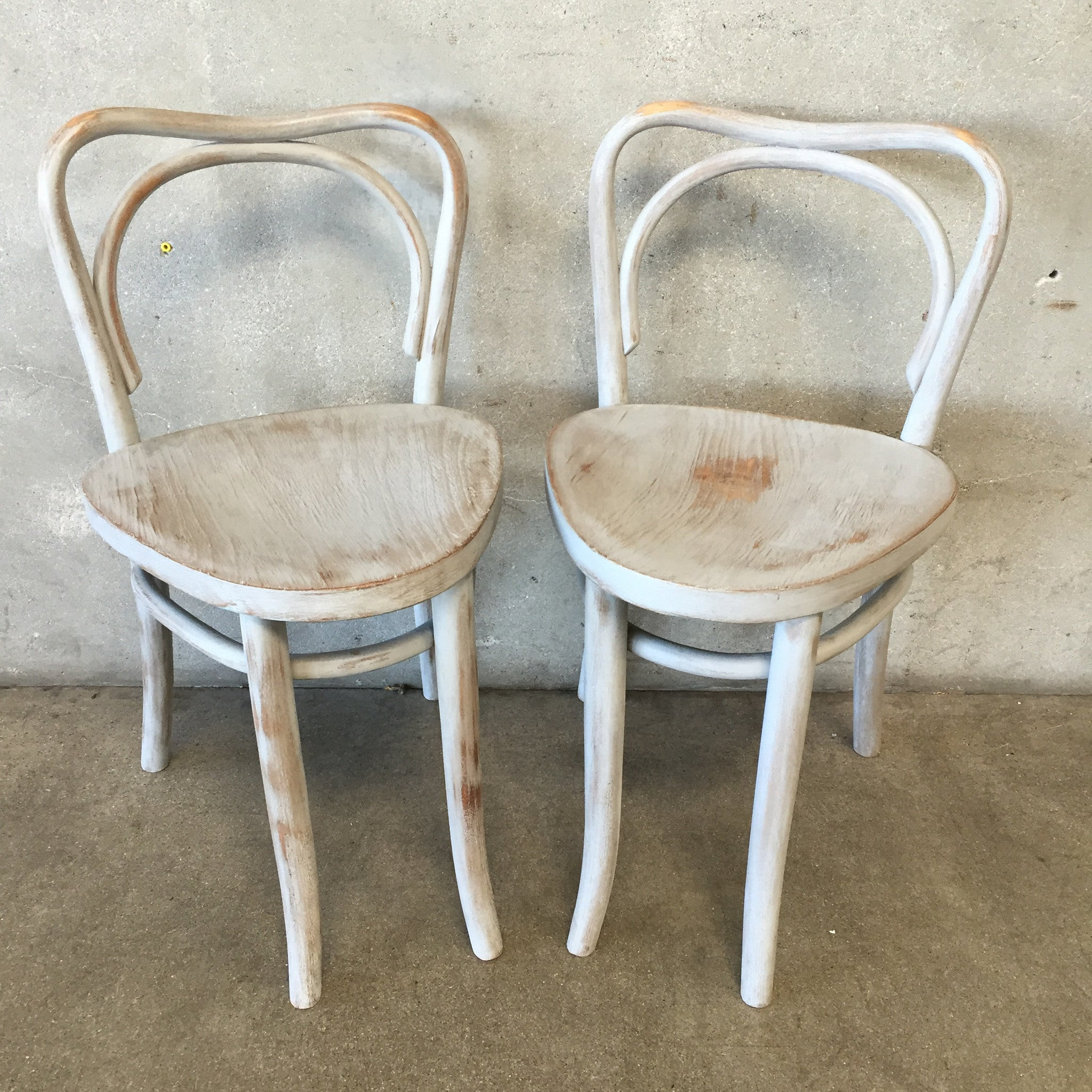 Pair Of White Ice Cream Parlor Chairs ...