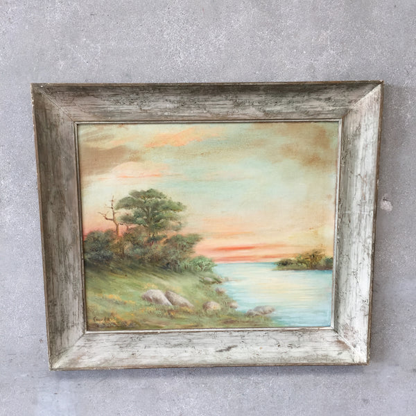 Mid Century Modern Signed Painting by Elinor Hall