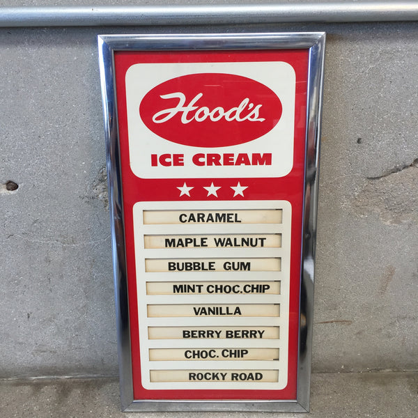 Hood Ice Cream In-store Display Sign