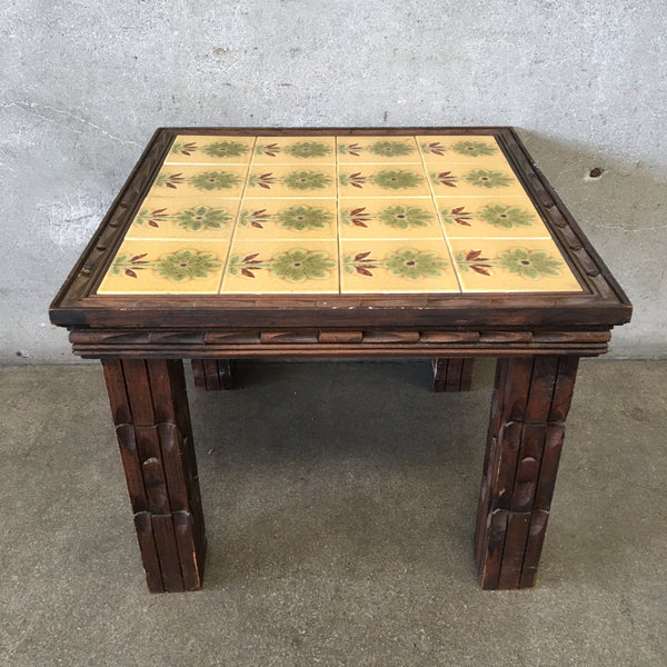Vintage Mexican Colonial Tile Table