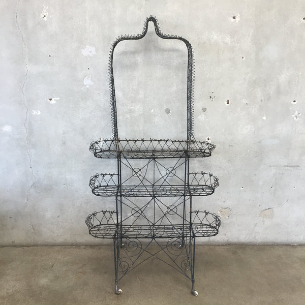 Victorian Three Tier Black Trellis Planter
