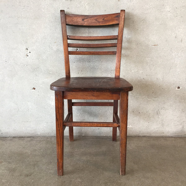 19th Century Wooden School Chair