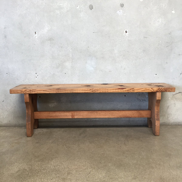 Vintage Natural Farmhouse Bench