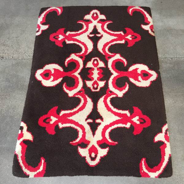 1950's Hand Hooked Area Rug
