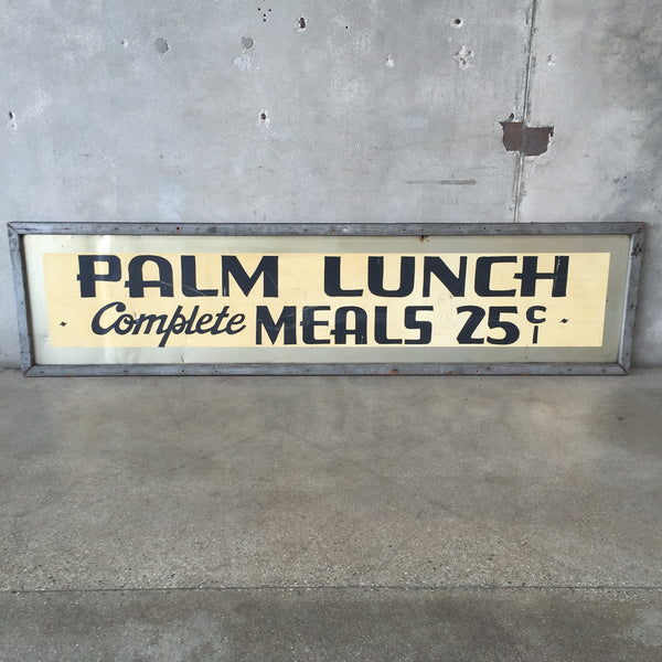 Vintage Palm Lunch Sign