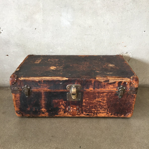 Antique 1880's Louis Vuitton Leather Trunk