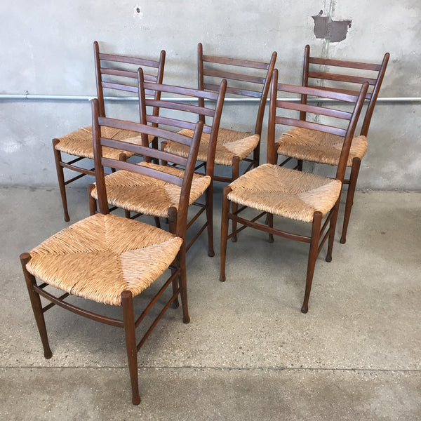 Set of 6 Gio Ponti Style Chairs / as-is