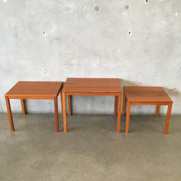 Mid Century Danish Mobler Nesting Tables - Set of 3