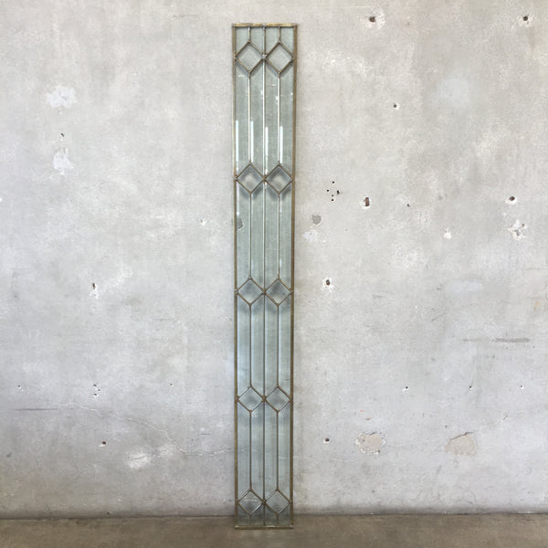 Vintage Leaded Beveled Glass Panel