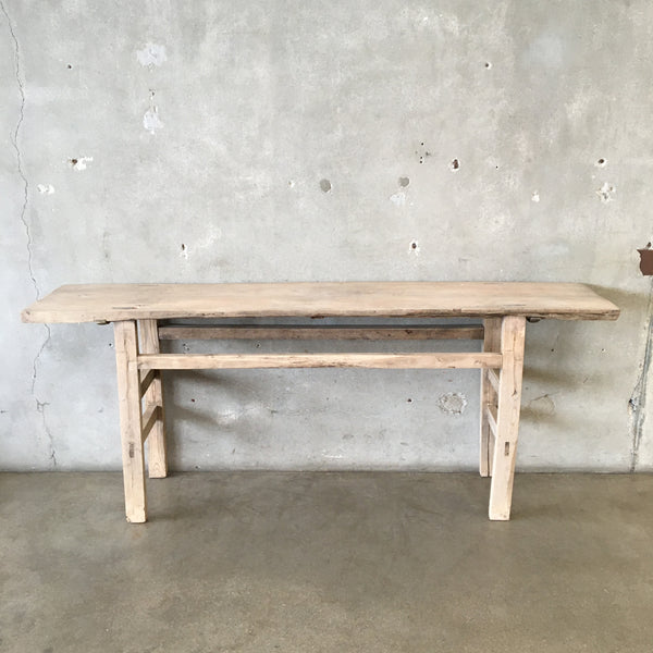 Vintage Elm Wood Rustic Console Table