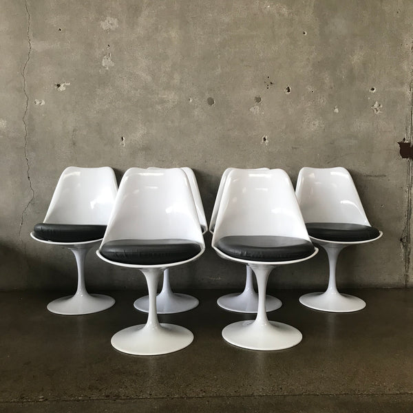 Modern Tulip Base Chairs Knoll Style - set of 6