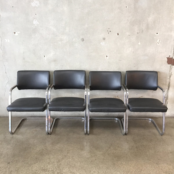 Set of Four Vintage Cantilever Chairs
