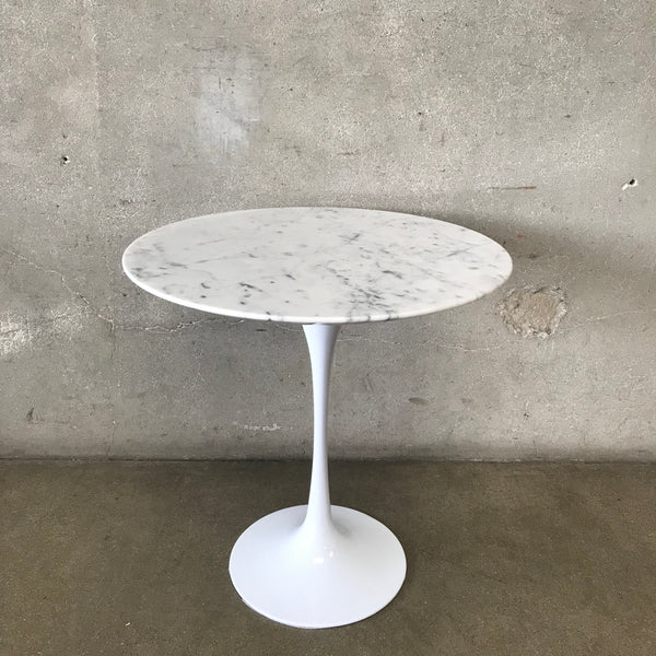 Modern Tulip base Side Table with Marble Top