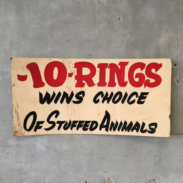 Ten Rings Vintage Carnival Sign