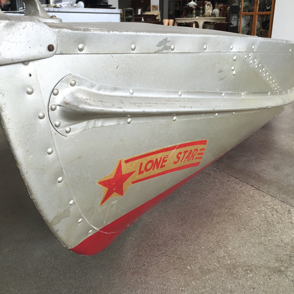 Circa 1950 39 S Lone Star Aluminum Boat W Elgin Engine: aluminum boat and motor packages