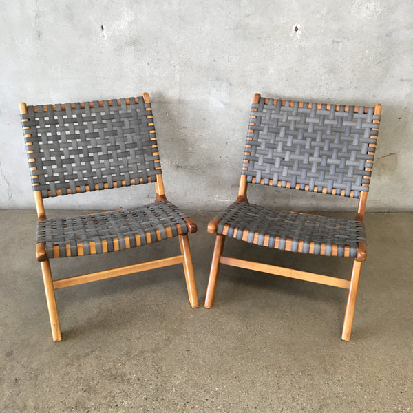Pair of Modern Mid Century Style Chairs