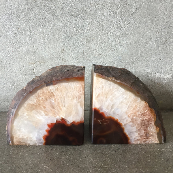 Pair of Geode Agate Bookends