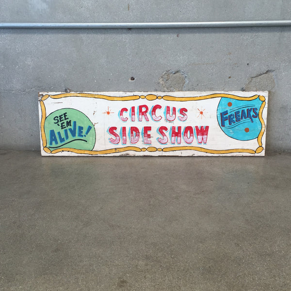 Vintage Carnival Circus Side Show Sign