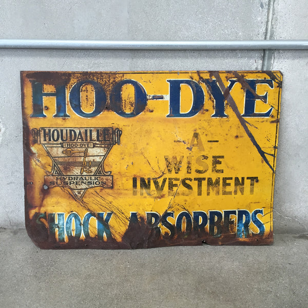 Vintage Hoo-Dye Metal Sign