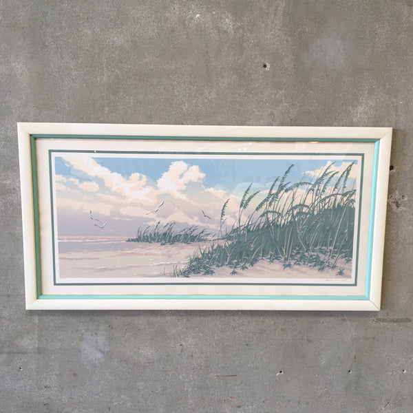 "Mid Century Warren Woodward ""Summer Breeze"" Serigraph"