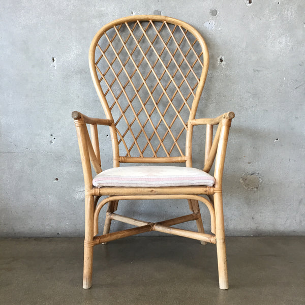 Bamboo High Back Chair