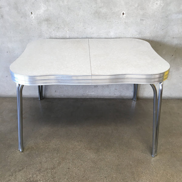 1950's Gray Crushed Ice Top Chrome Table