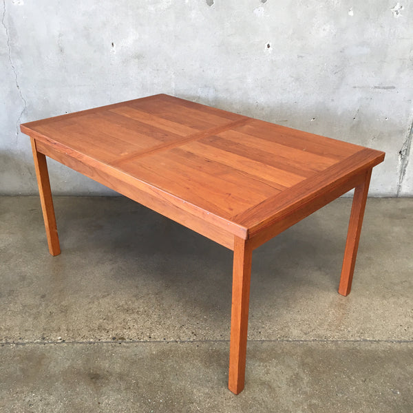 Mid Century Danish Teak Expanding Dining Table