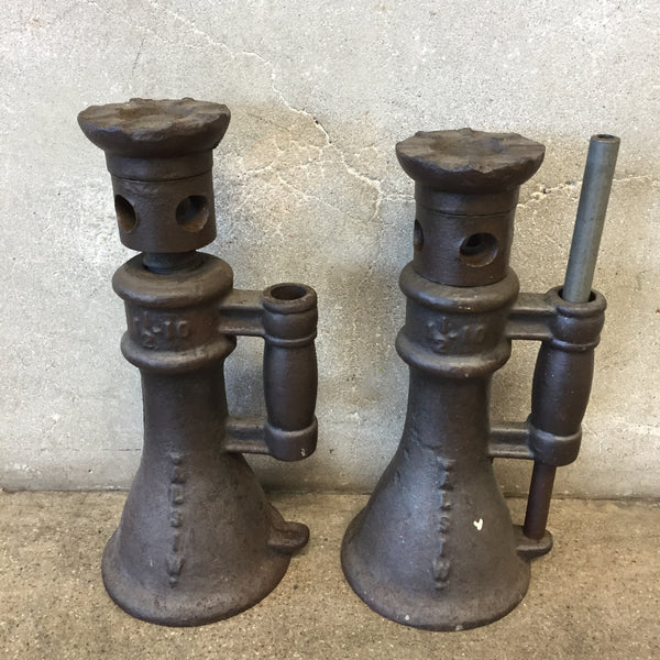 Vintage ALSIW Cast Iron Screw Jack