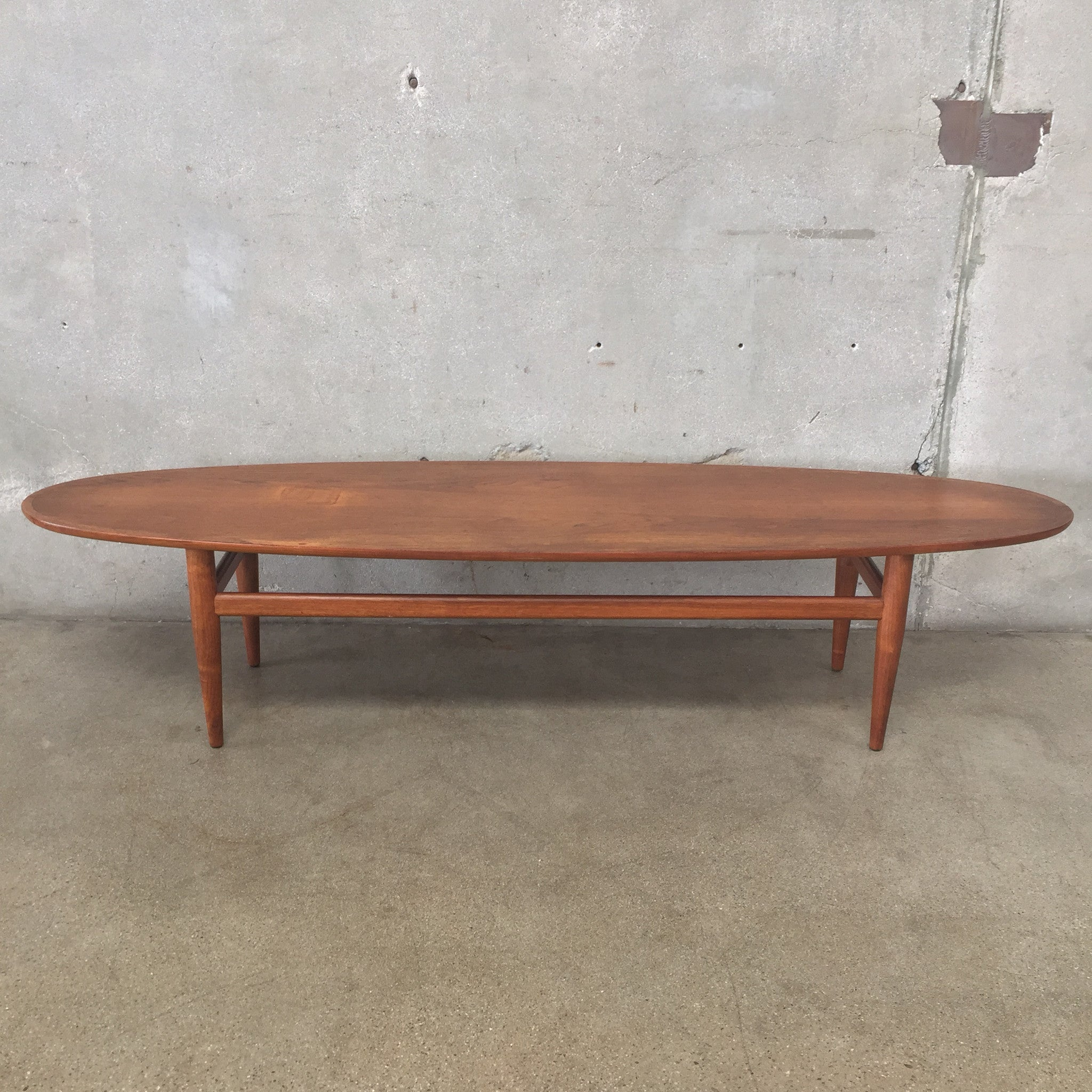 Mid Century Surfboard Coffee Table Rascalartsnyc