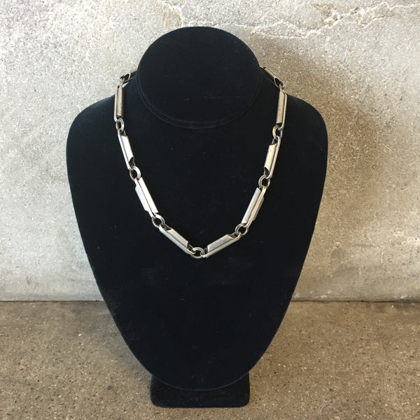 Early Modernist Silver Plated Necklace