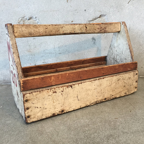 Vintage Painted Carrier Tool Box