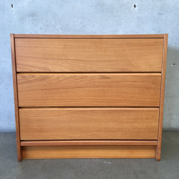 Vintage Three Drawer Danish Teak Dresser