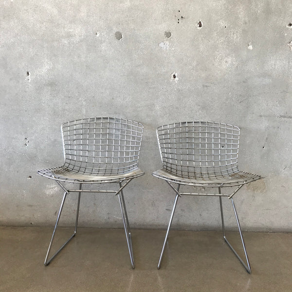 Pair of Mid Century Modern Wire Chairs by Harry Bertoia for Knoll