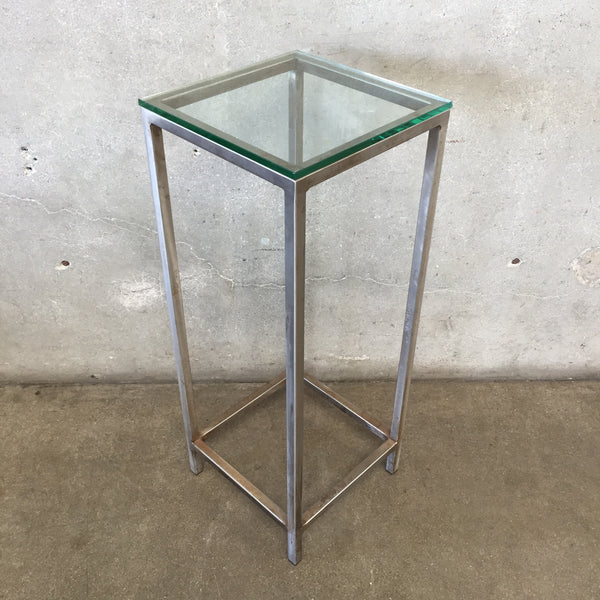 Steel/Glass Accent Table