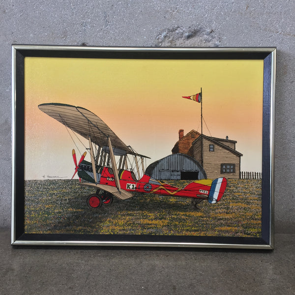 Aircraft Painting Signed H. Hargrove