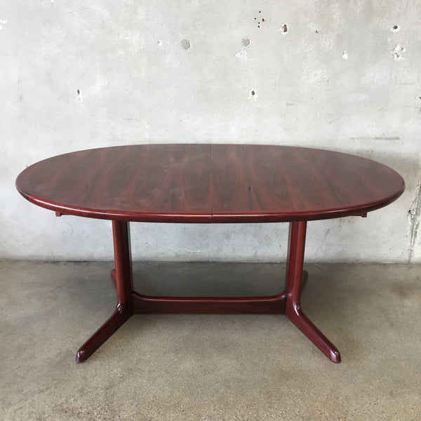 Mid Century Rosewood Dining Table with Extension