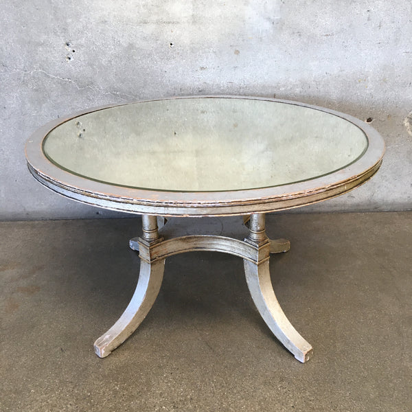 Silvered Shabby Chic Mirrored Coffee Table