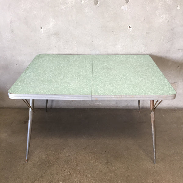 Vintage Crackled Ice Formica Table
